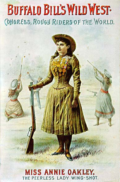 Annie Oakley in Buffalo Bill's Wild West Show