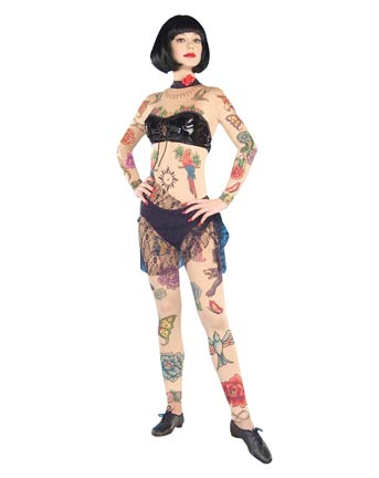 Slip into a tattoo body suit,