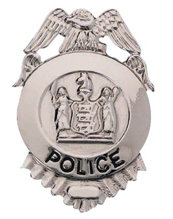 Metal Silver Police Badge