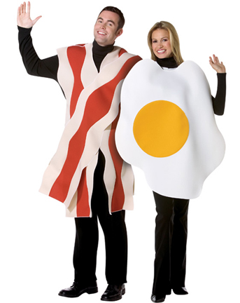 Bacon Eggs Adult Couples Costume