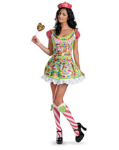 Womens Sassy Deluxe Candyland Cosutme