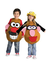 Childrens Mr. and Mrs Potato Head Costumes