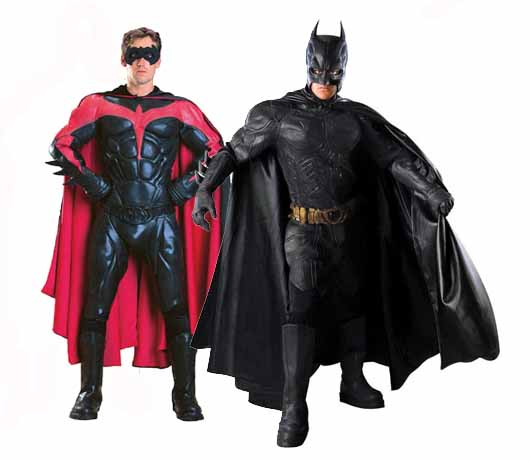Collectible Batman and Robin costumes
