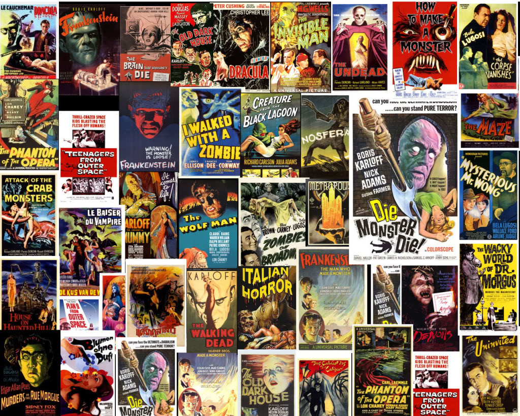 Classic Horror Collage