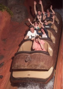 Family On Splash Mountain Disney